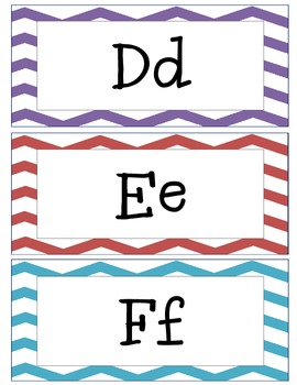 Chevron Common Core Vocabulary Word Wall:Grades 3-5 (ELA, Math, & Science)
