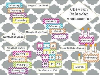 Chevron Complete Calendar Set