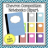 Chevron Composition Notebook Clipart - Commercial and Pers