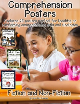 Chevron Comprehension Posters {Fiction&non-Fiction} Common