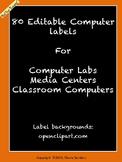 Chevron Computer Labels Bundle