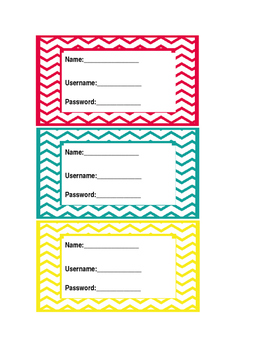 Chevron Computer Log In Cards