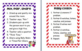 Chevron Cooperative Learning Strategy Posters