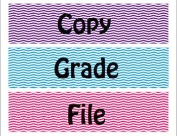 Chevron Copy, Grade, File Organization Labels