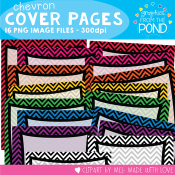 Chevron Cover Pages - Graphics for Teaching
