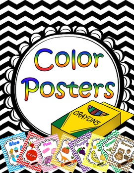 Color Posters Chevron and Crayons