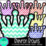 Chevron Crowns Clip Art {The Teacher Stop}