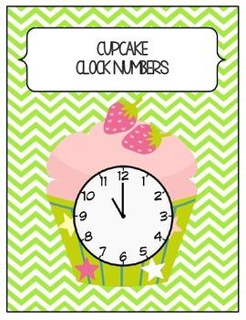 Chevron Cupcake Clock Numbers