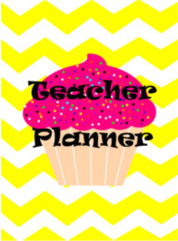 Chevron Cupcake Teacher Binder Cover