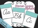 Chevron Cursive Alphabet