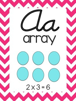 Chevron Cursive Math Alphabet