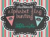 Chevron Cursive chalkboard alphabet flag banner