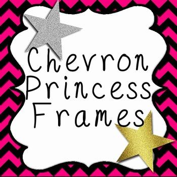 Chevron Paper with Curvy Princess Frames