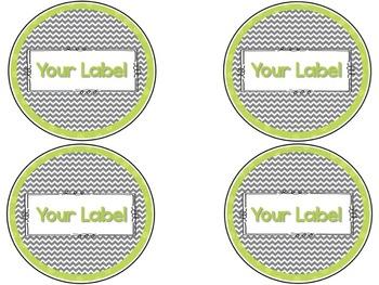 Chevron Customizable Labels