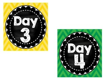 Chevron Cycle Day Cards