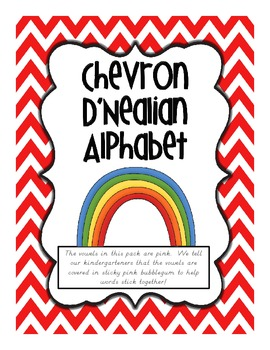 Chevron D'Nealian Alphabet