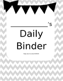Chevron Daily Binder Cover