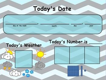 Chevron Daily Calendar Flipchart