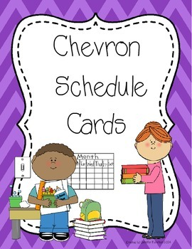 Chevron Daily Scedule Cards