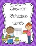 Chevron Daily Scedule Cards