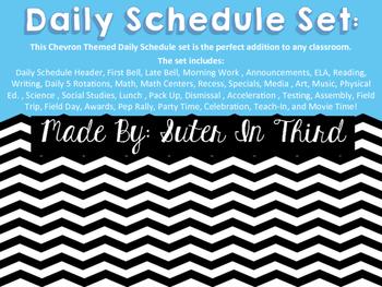 Chevron Daily Schedule