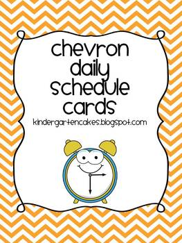 Chevron Daily Schedule Cards