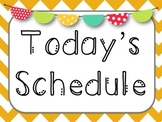 Chevron Daily Schedule Posters and Cards- 6 Editable Cards to add your own!