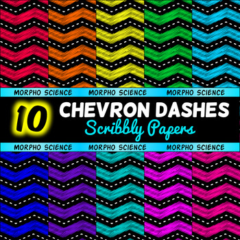 Chevron Dashes - Scribble Papers