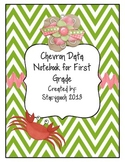 Chevron Data Notebook for First Grade using Common Core