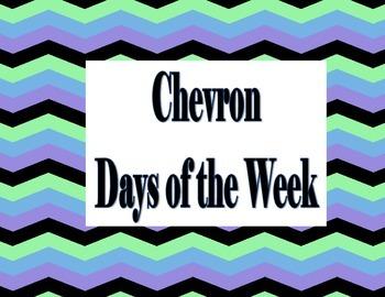 Chevron Day Labels