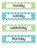 Chevron Days of Week Labels