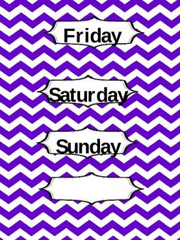 Chevron Days of the Week