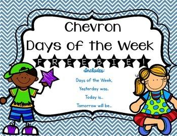 Chevron Days of the Week Freebie