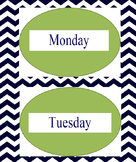 Chevron Days of the Week Labels
