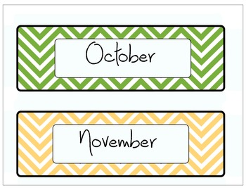 Chevron Days of the Week & Other Labels