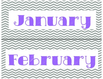 Chevron Days of the Week and Months of the Year