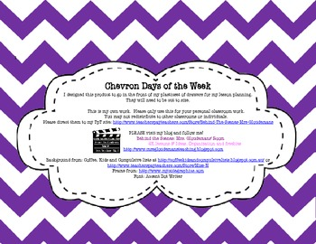 Chevron Days of the week