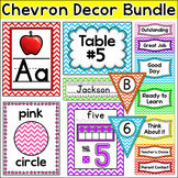 Chevron Classroom Decor: Name Tags, Binder Covers, Behavior Chart, Name Plates