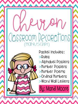 Chevron Decor Classroom Set