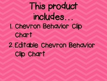 Chevron Design Behavior Clip Chart Editable