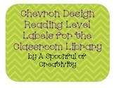 Chevron Design Reading Level Labels
