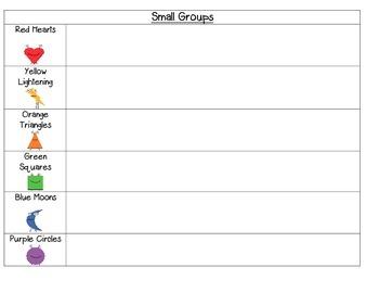Chevron Design Small Group Organization Bundle