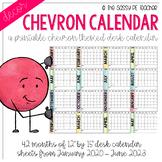 Chevron Desk Calendar