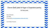 Chevron Desk Labels for Cooperative Learning
