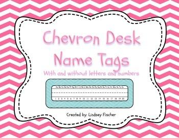 Chevron Desk Name Tags