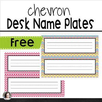 Chevron Desk Plates
