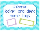 Chevron Desk Tags, Locker Tags, and Labels