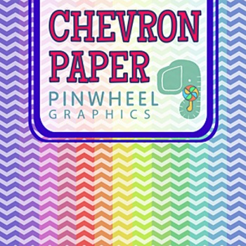 Chevron Digital Paper Background-Pastel Rainbow