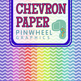 Chevron Digital Paper Background-Pastel Rainbow