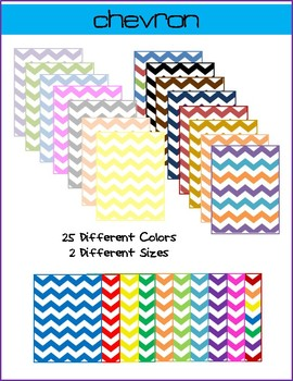 Chevron Digital Paper Backgrounds- Commercial and Personal Use
